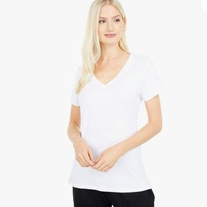 PACT ORGANIC COTTON MID WEIGHT V-NECK TEE
